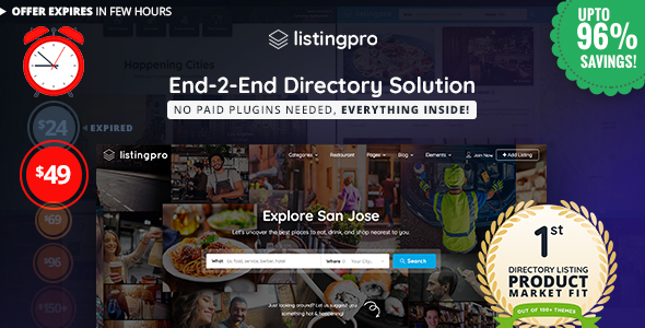 #1 WordPress Directory Theme – ListingPro