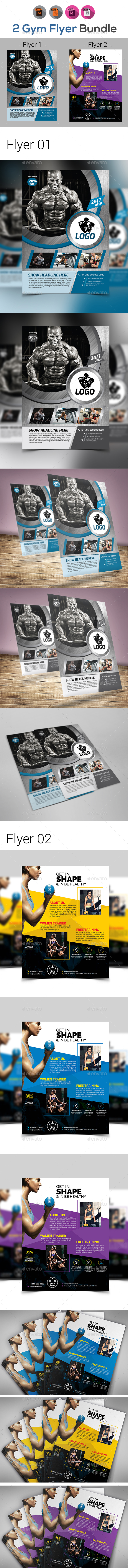 Fitness & Gym Flyers Bundle