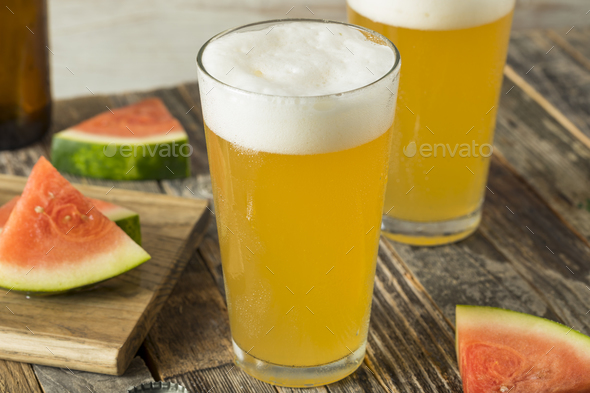 Sweet Alcoholic Watermelon Beer - Stock Photo - Images