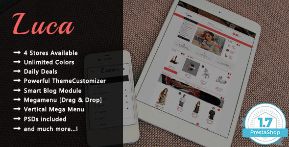 Luca – Shopping Responsive Prestashop 1.7 Theme
