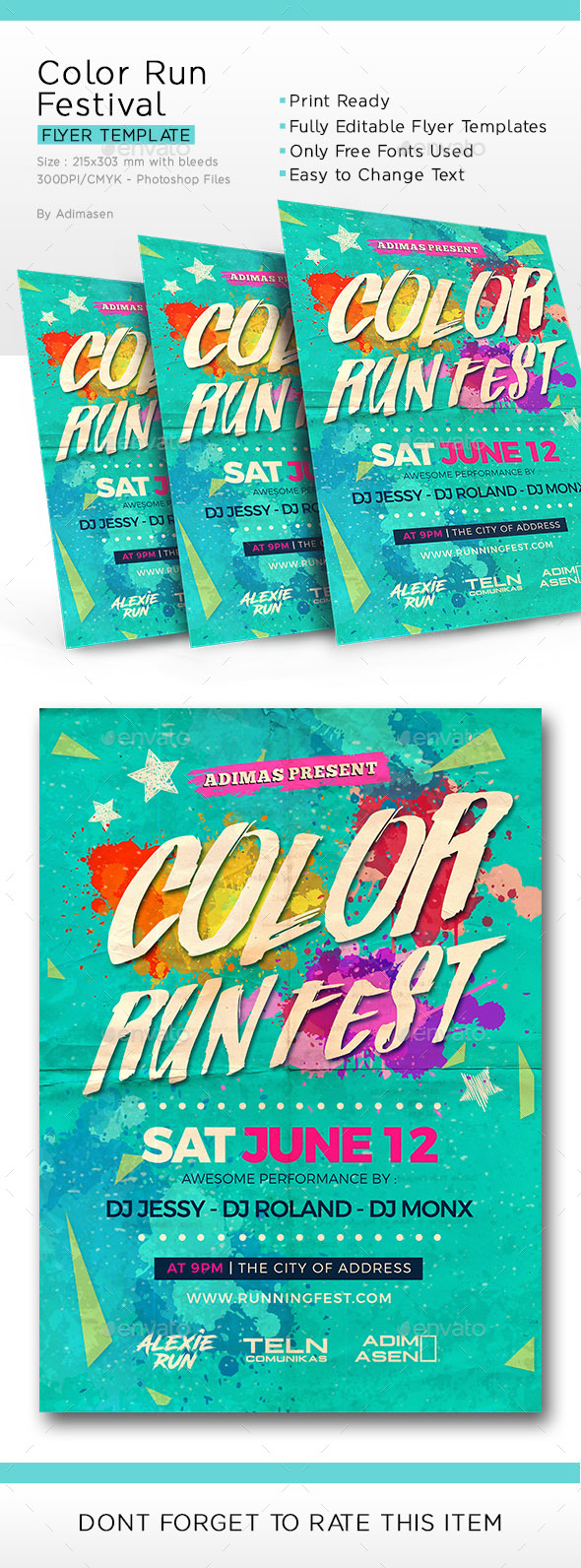 Color run Festival - Events Flyers