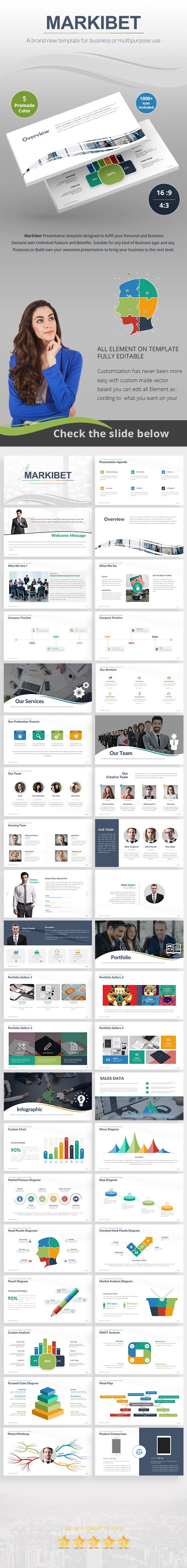 Markibet Powerpoint Template Design - Business PowerPoint Templates