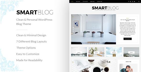 SmartBlog – Clean & Personal WordPress Blog Theme.