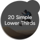 20 Simple Lower Thirds - VideoHive Item for Sale