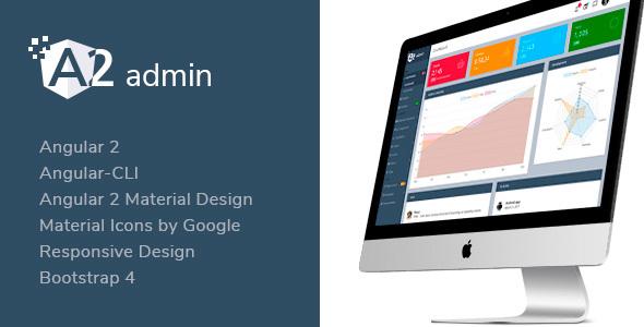 A2 admin – Angular 2 Material Design Admin Template