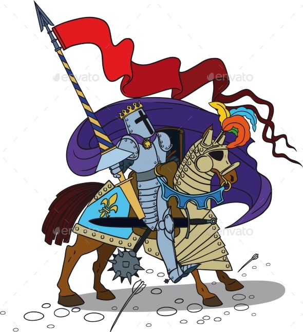 Horse Knight with a Spear - Miscellaneous Vectors