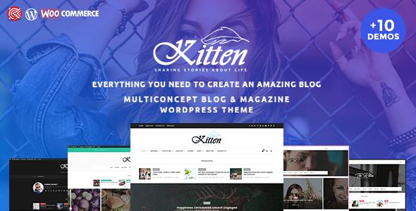 Kitten – A Responsive WordPress Blog Theme