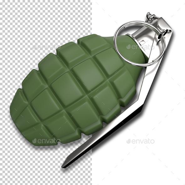 Hand Grenade - Objects 3D Renders