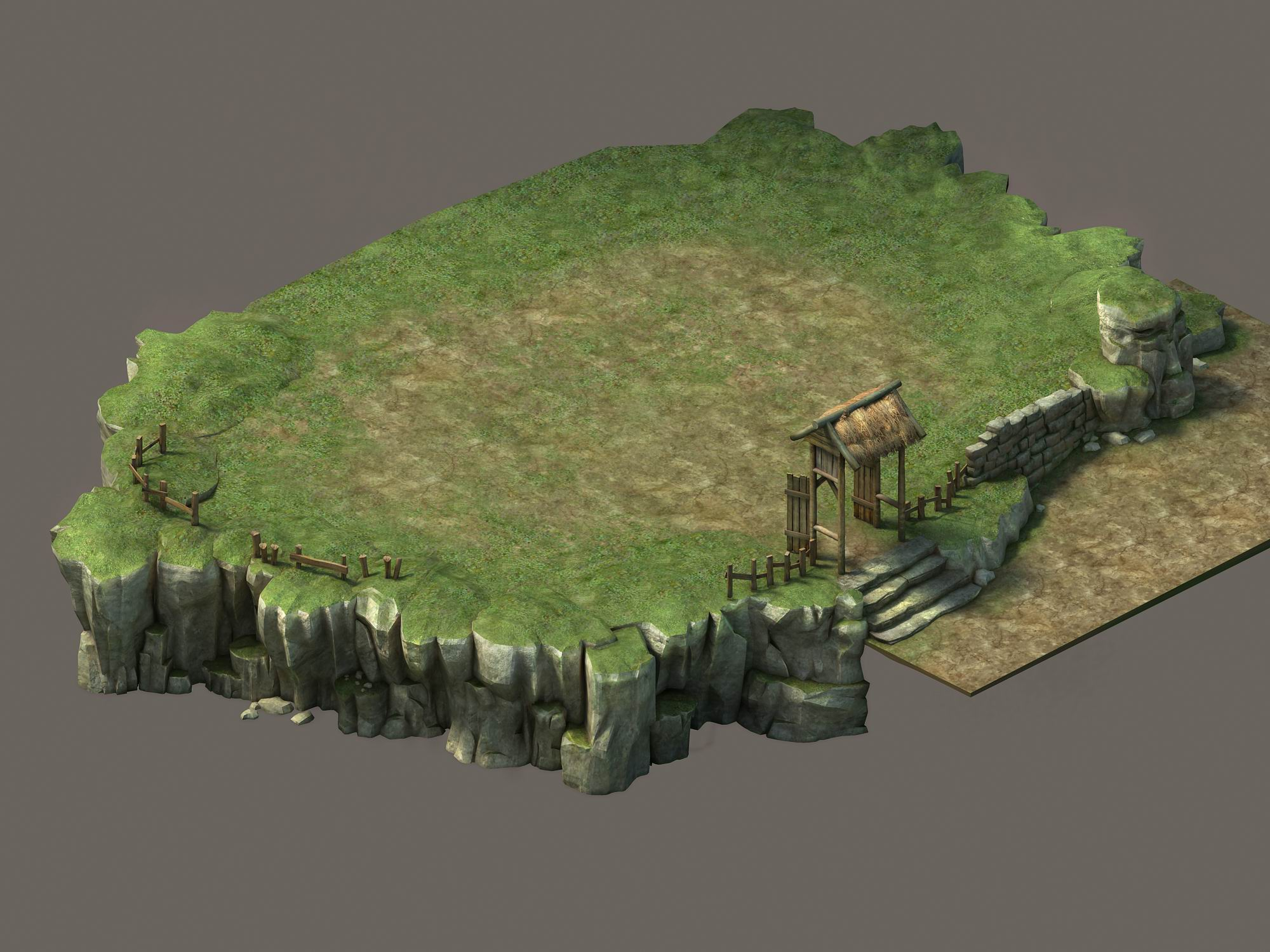 Game Model - Small Village Hill Road 02