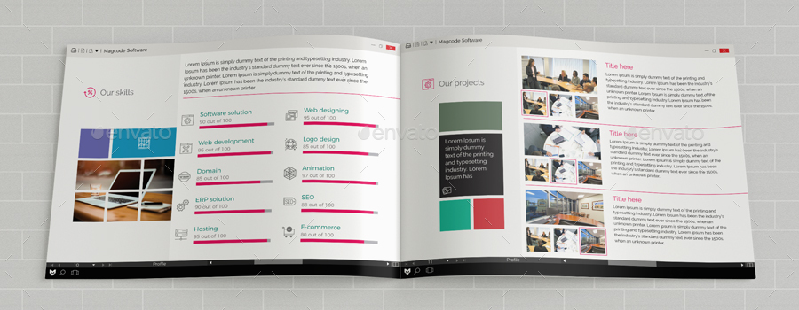 Software Brochure Template Software Developers Tri Fold Brochure
