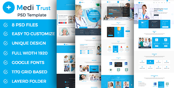 Meditrust – Medical PSD Template