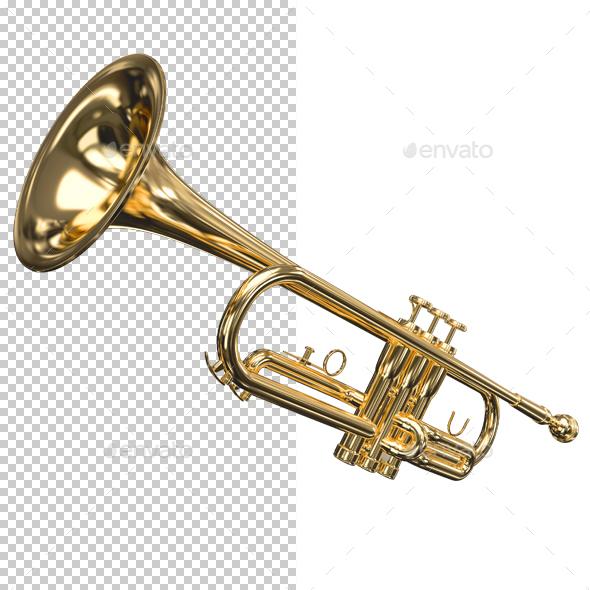 Trumpet - Objects 3D Renders