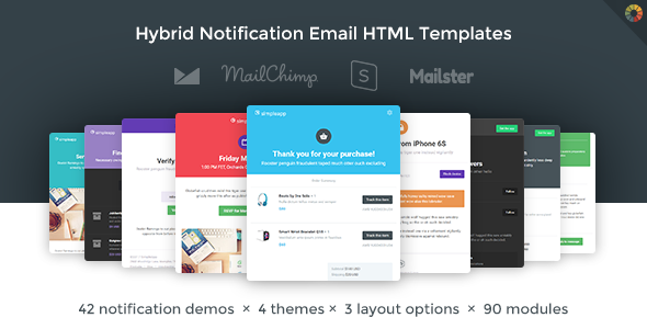 SimpleApp - Hybrid Notification Email HTML Templates - Newsletters Email Templates