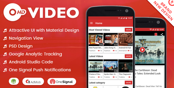 HD Video with Material Design - CodeCanyon Item for Sale