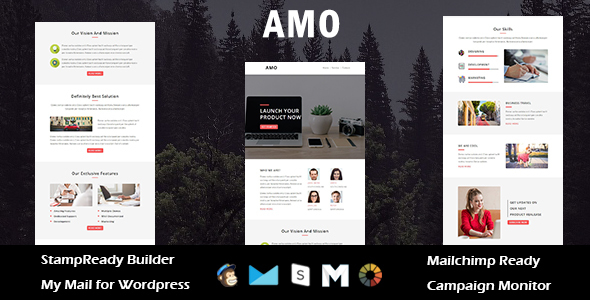 Image of AMO - Multipurpose Responsive Email Template with Stamp Ready Builder Access