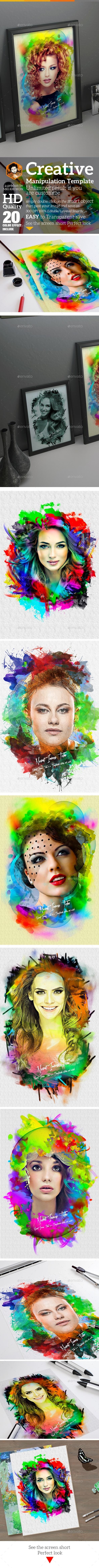 Creative Photo Manipulation Templates - Artistic Photo Templates