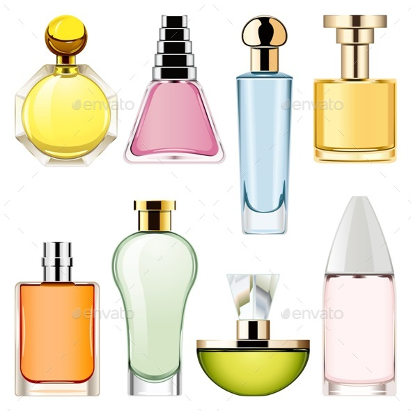 Vector Perfume Icons Set 2 - Retail Commercial / Shopping