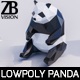 Lowpoly Panda - 3DOcean Item for Sale