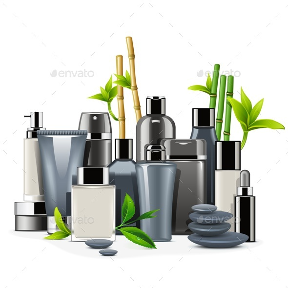 Male Cosmetics - Health/Medicine Conceptual