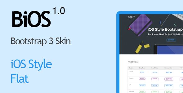 BiOS - iOS Style Bootstrap Skin - CodeCanyon Item for Sale