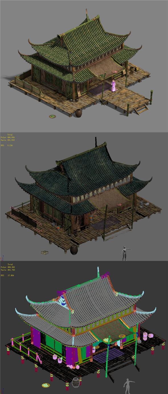 Xinshoucun - residential 01 - 3DOcean Item for Sale