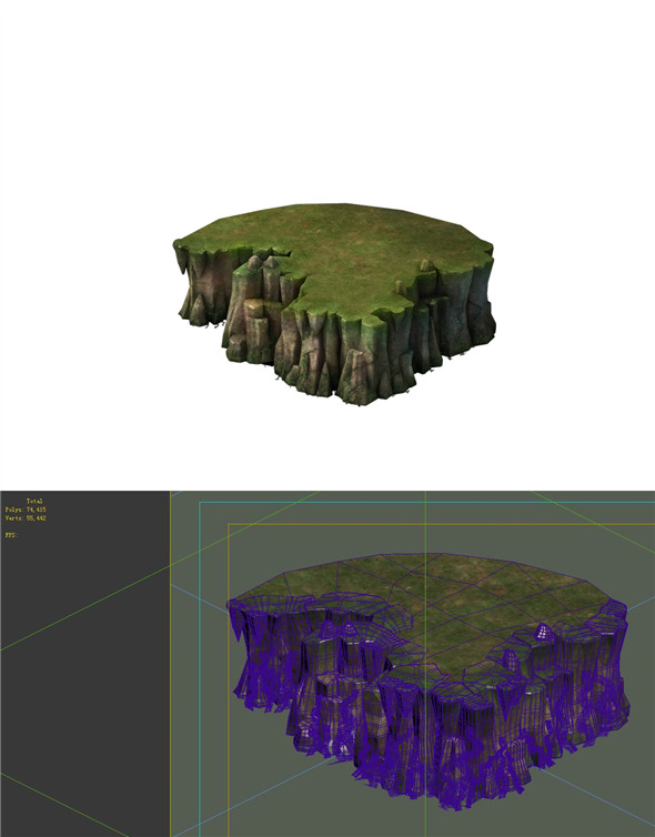 Game Model - Cliff - 3DOcean Item for Sale