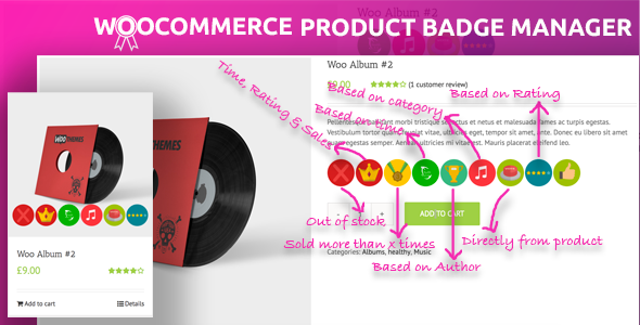 Woocommerce Product Badge Manager - CodeCanyon Item for Sale
