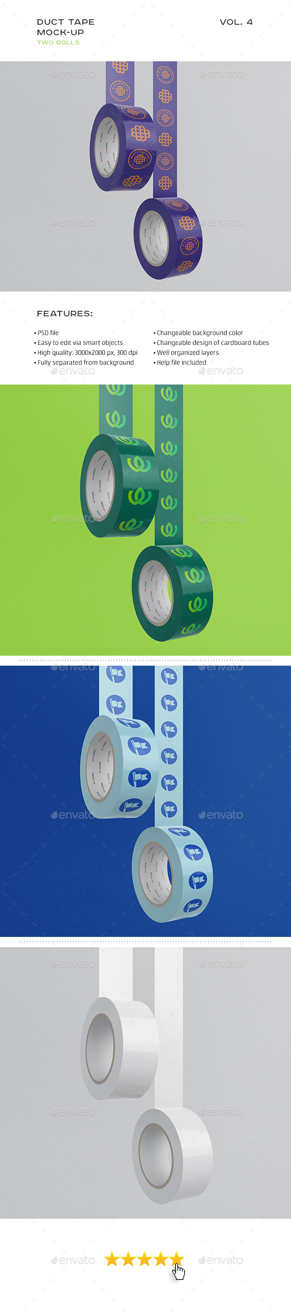 Duct Tape Mock-up vol. 4 - Stationery Print