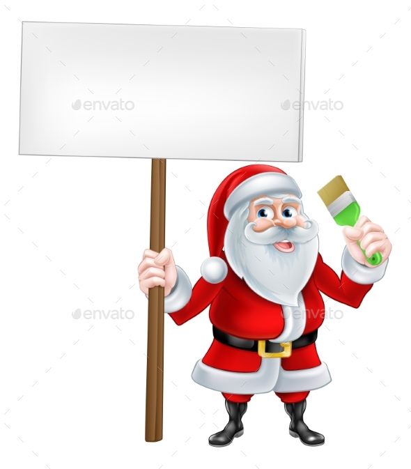 Santa Decorator Sign - Miscellaneous Vectors