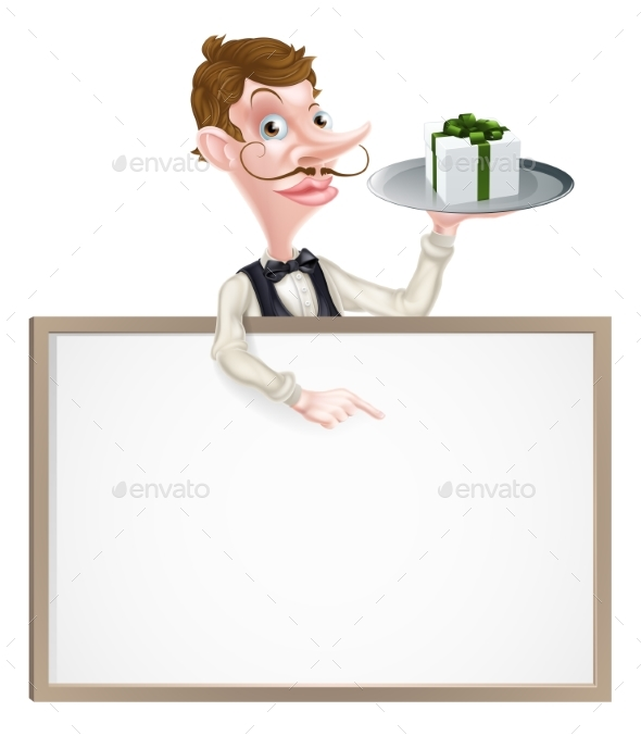 Gift Waiter Sign - Miscellaneous Vectors