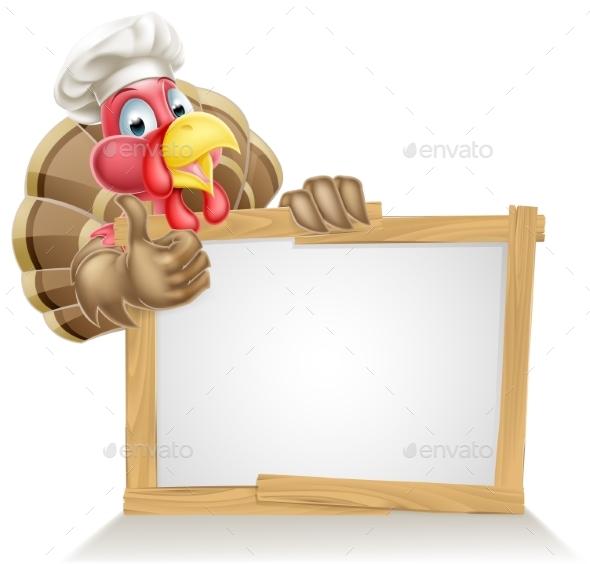 Chef Turkey Sign - Miscellaneous Vectors