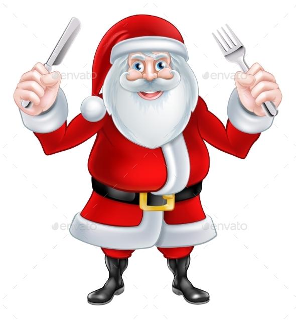Santa Christmas Food - Food Objects