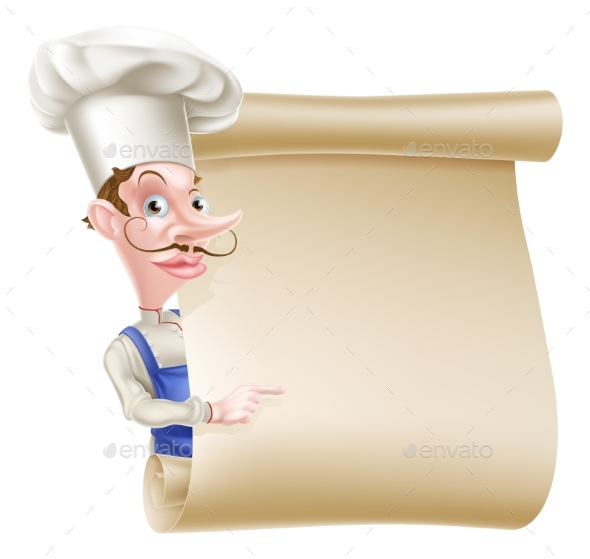 Chef Scroll - Miscellaneous Vectors