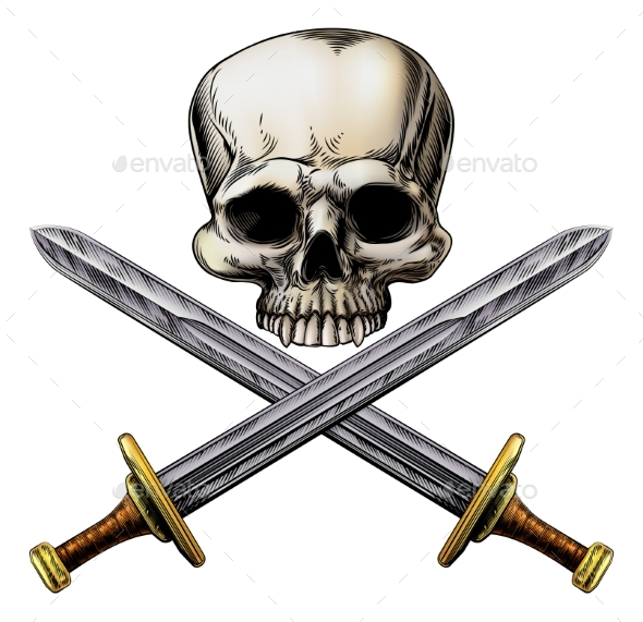 Pirate Skull and Cross Swords - Miscellaneous Vectors