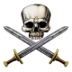 Pirate Skull and Cross Swords