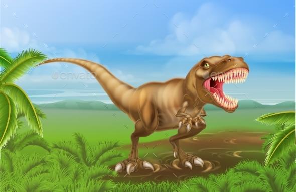 Tyrannosaurs Rex Dinosaur - Animals Characters