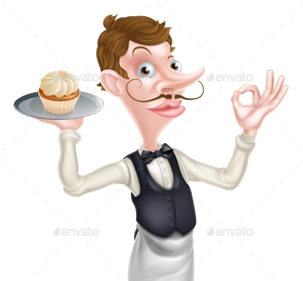 Cake Waiter Perfect Sign - Food Objects