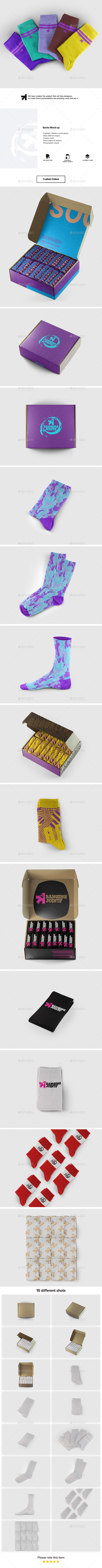 Socks Set Mockup - Miscellaneous Apparel