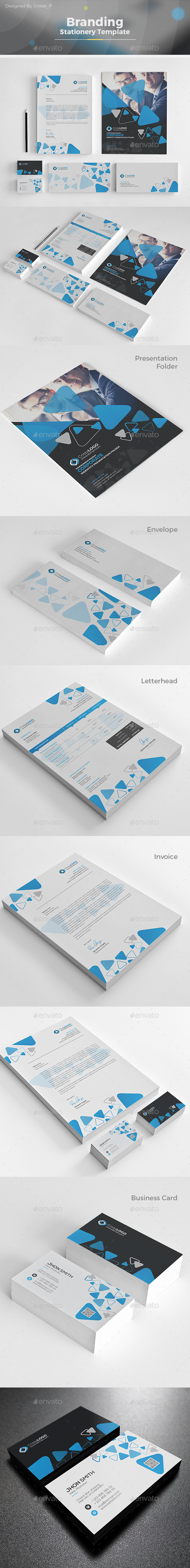 Branding Stationery Template - Stationery Print Templates