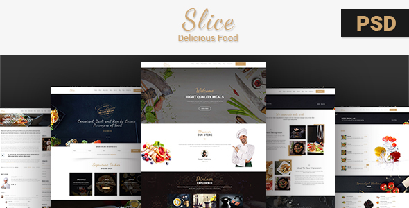 Slice Restaurant-PSD Template - Food Retail