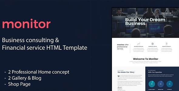 Monitor – Business Consulting and Financial Services HTML Template