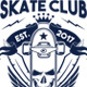 Skate Club T-Shirt Illustration - GraphicRiver Item for Sale