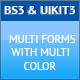 Responsive HTML5 Forms with BS3 and UIKIT3