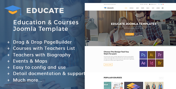 Educate | Education & Courses, Kindergartens Joomla Template - Joomla CMS Themes