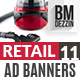 Retail 11 Banner Ads - GraphicRiver Item for Sale