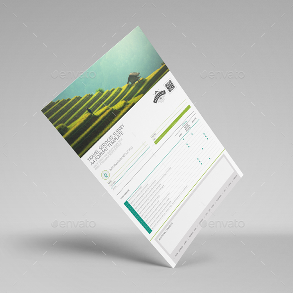 Travel Services Survey A4 Template By Keboto | Graphicriver