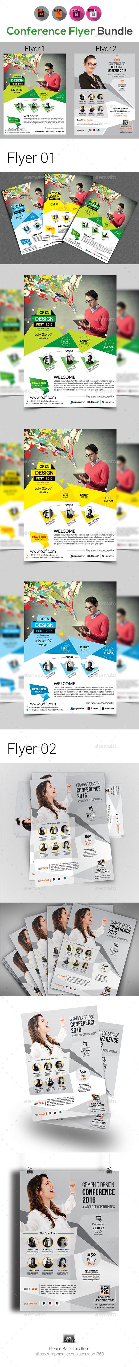 Conference Flyer Bundle V3 - Events Flyers