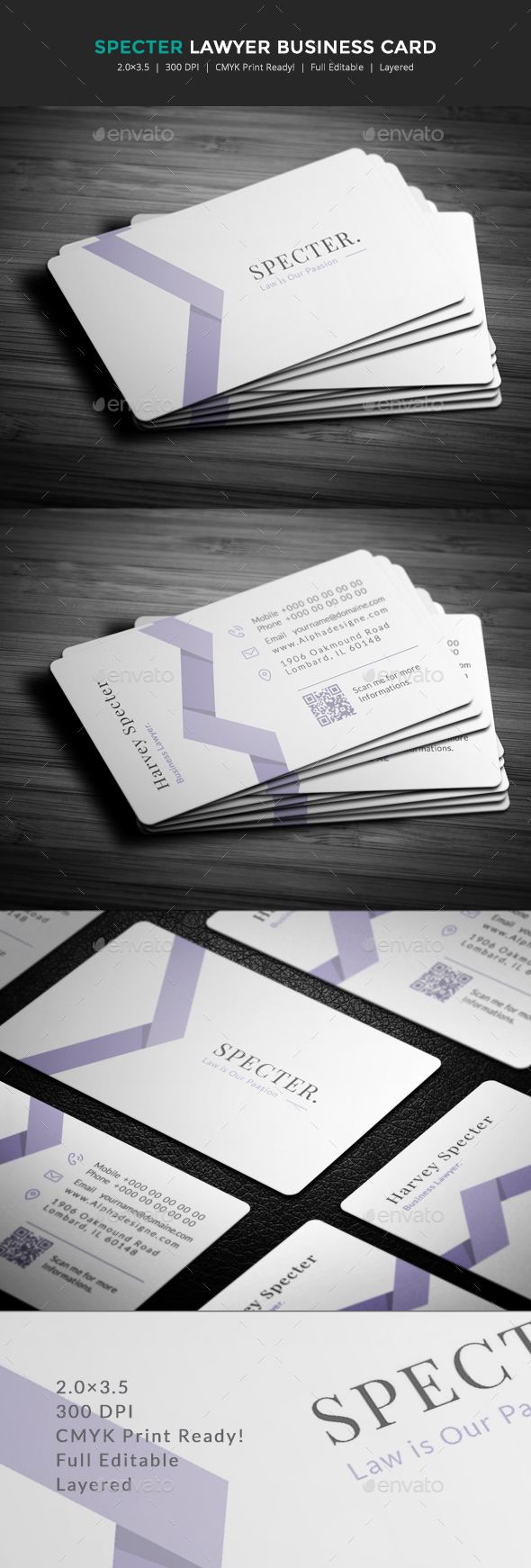Specter Lawyer Business Card by ExoticThemes | GraphicRiver