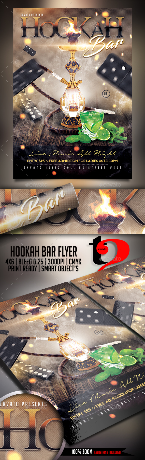 Hookah Bar Flyer Template - Clubs & Parties Events
