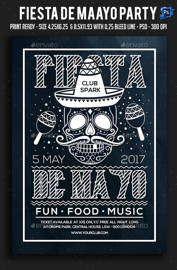 Fiesta De Maayo Party Flyer - Clubs & Parties Events